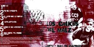 Los Chikos del Maíz - Miedo y Asco en Valencia - Portada y C
